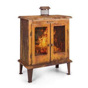 Blumfeldt Flame Locker braséro cheminée de jardin vintage 58x30cm acier, effet rouille
