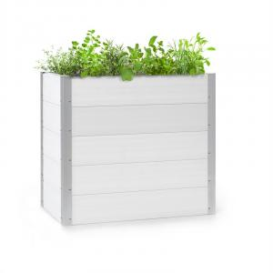 Blumfeldt Nova Grow Potager surélevé 100 x 91 x 50 cm WPC aspect bois blanc