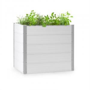 Blumfeldt Nova Grow Potager surélevé 100 x 91 x 100 cm WPC aspect bois blanc