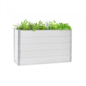 Nova Grow Gartenbeet 150 x 91 x 50 cm WPC Holzoptik weiß