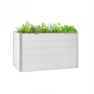 Blumfeldt Nova Grow Potager surélevé 150 x 91 x 100 cm WPC aspect bois blanc