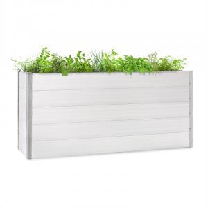 Blumfeldt Nova Grow Potager surélevé 195 x 91 x 50 cm WPC aspect bois blanc