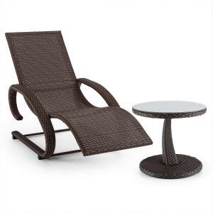 Daybreak Juego de mecedora y mesa Aspecto de mimbre de color marrón