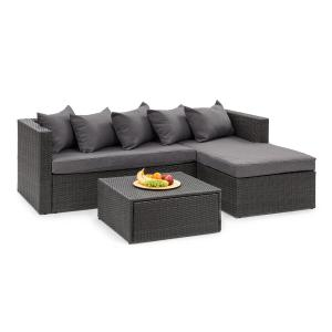 Blumfeldt Theia Lounge Set Garden Set Black / Dark Grey