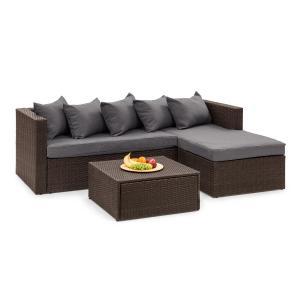 Blumfeldt Theia Lounge Set da giardino marrone / grigio scuro