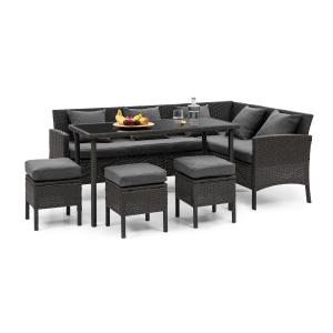 Blumfeldt Titania Dining Lounge Set Garden Set Black / Dark Grey