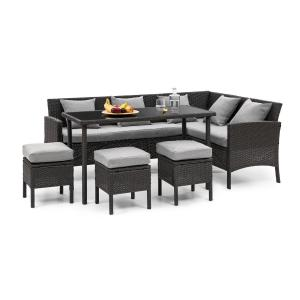 Blumfeldt Titania Dining Lounge Set Garden Set Black / Light Grey