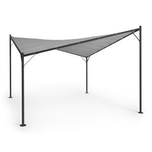 Blumfeldt Sombra Gazebo Set Completo Tetto in Poliestere 4x4 m grigio