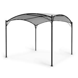 Castello Pavillon 3,5x3,5m 250G Polyester Stahl schwarz / grau