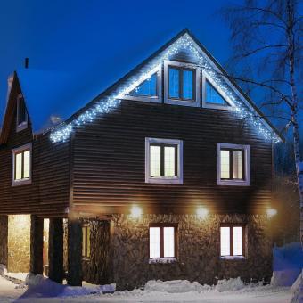 Dreamhouse Flash Icicle Christmas Lights 8m 160 Led Cold White Flash Motion
