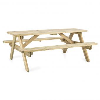 180 table pique-nique mobilier jardin table banc 32mm bois FSC