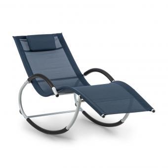 Westwood Rocking Chair Schaukelliege Ergonomisch Aluminium Dunkelblau