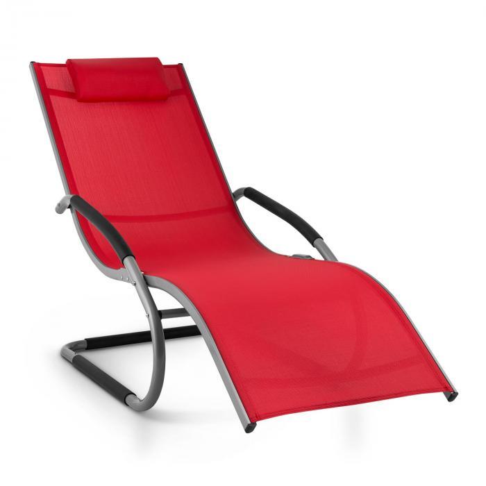 Sunwave Hamaca de jardín Tumbona Mecedora Relax Aluminio Rojo