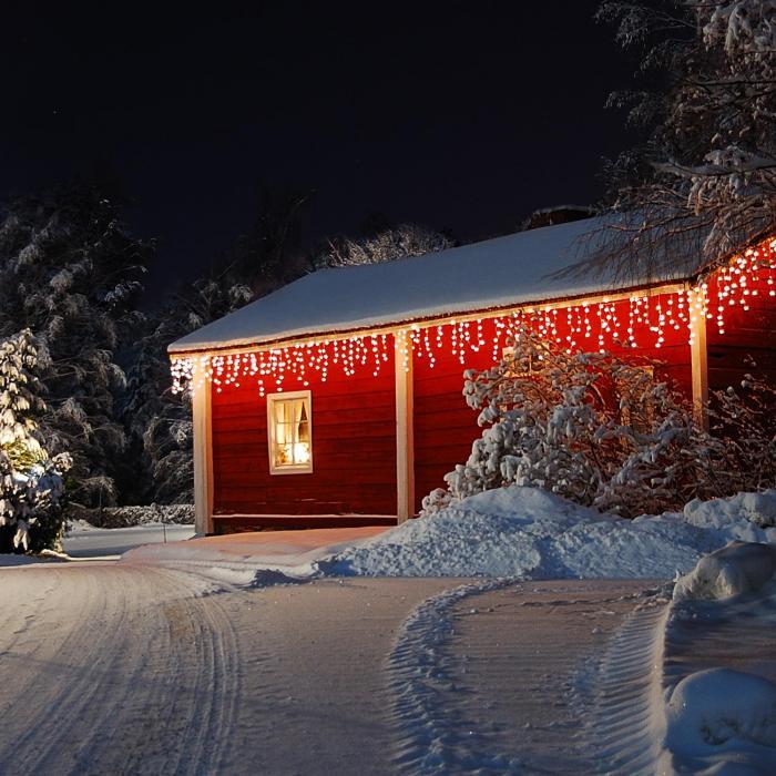 Dreamhouse Snow Lichterkette 8m 160 LED warmweiß Snow Motion