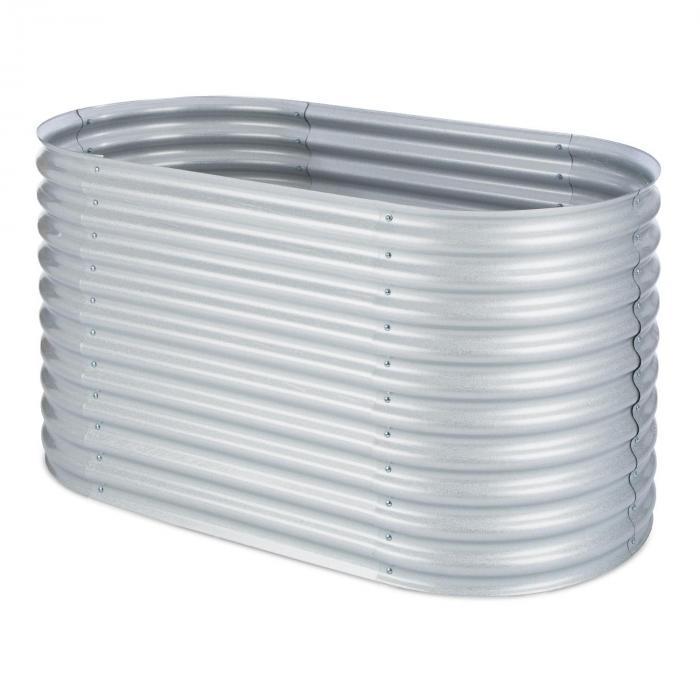 High Grow Raised Garden Bed 1.6m zinc-aluminum coating silver