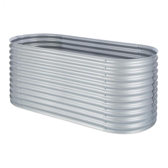 High Grow Upphöjd bädd Trädgårdsbädd 2,0 m Zink-Aluminium silver