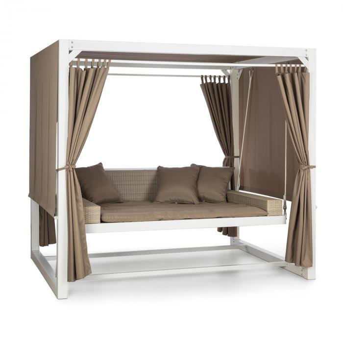 Eremitage Balancelle de luxe 236x180x210cm - blanc & taupe