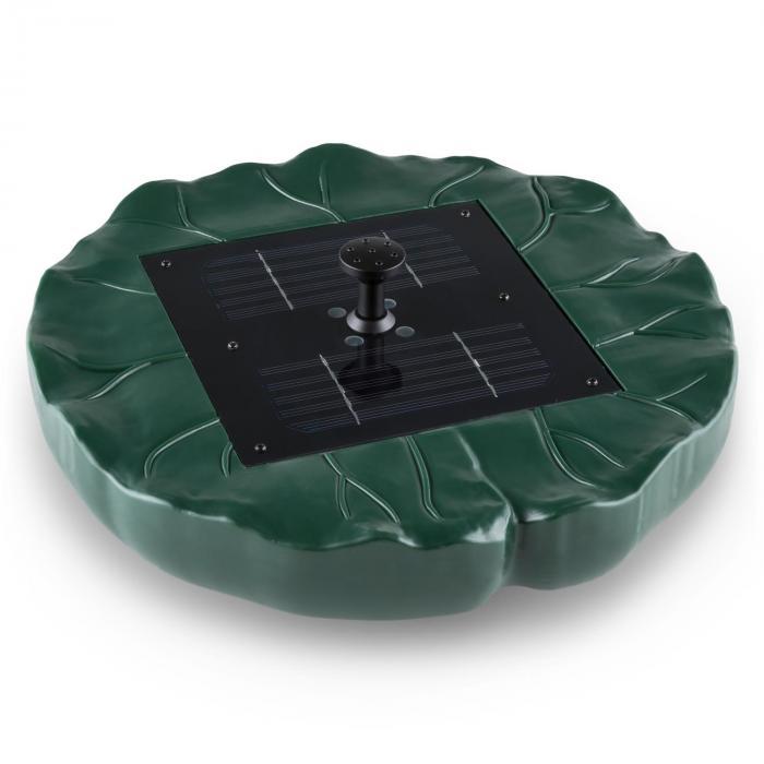 Sunfountain Springbrunnen Solar Seerose 4 Fontänen Fernbedienung LED
