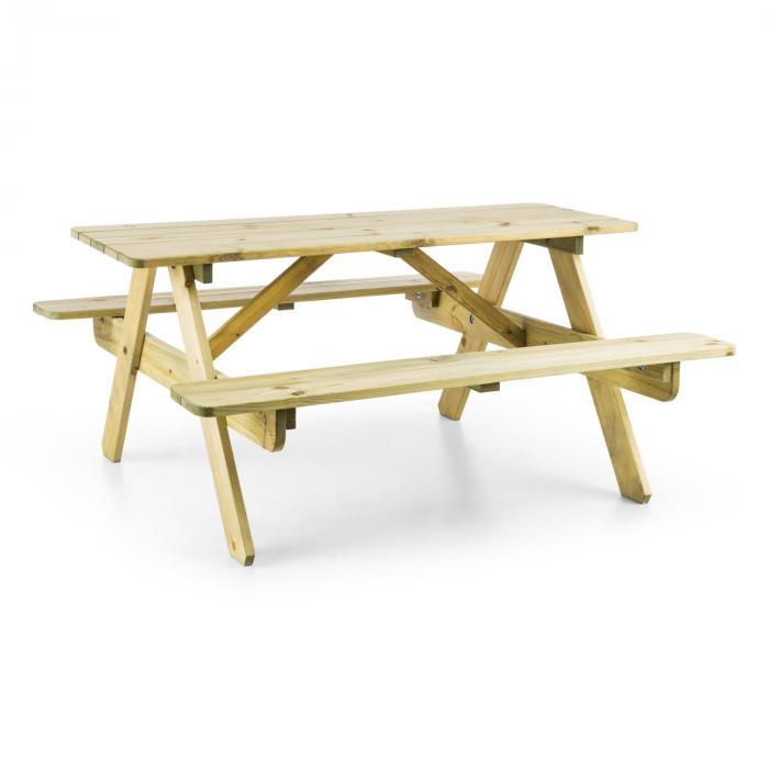 Table de pique-nique avec banc meuble jardin pour enfants- bois