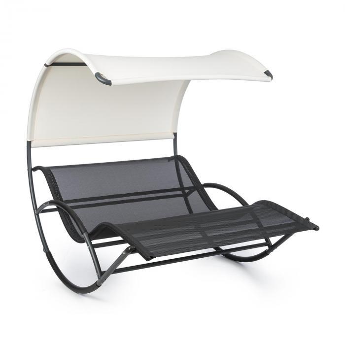 The Big Easy schommelbank zwart, weerbestendig, max. 350 kg, UV-bescherming