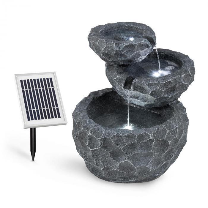 Murach Kaskadenbrunnen Akkubetrieb 2 kW Solarpanel 3 LEDs