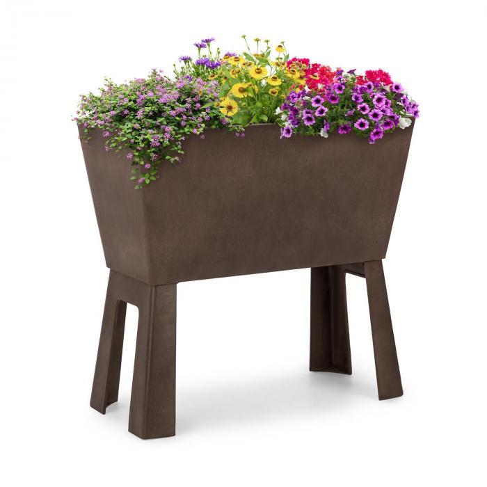 Mammutgrow Flex jardín de suelo elevado 75 x 70 x 35 cm con protección UV y contra heladas marrón