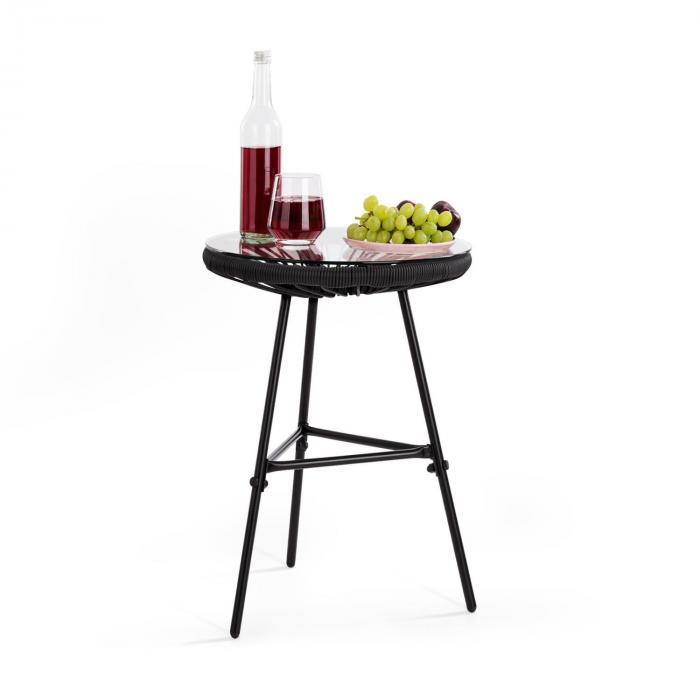 Las Brisas T Tavolo da Giardino Design Rétro Intreccio 4 mm nero