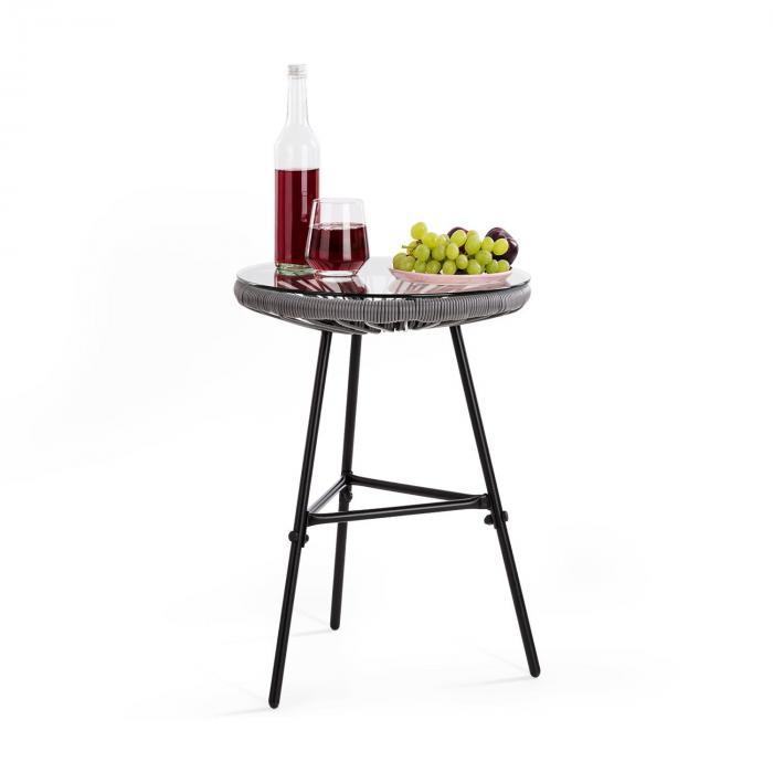 Las Brisas T Tavolo da Giardino Design Rétro Intreccio 4 mm grigio