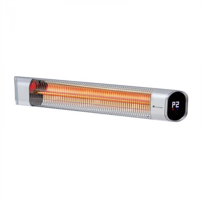 Dark Wave infraröd-värmestrålare 2000W IP65 aluminium silver