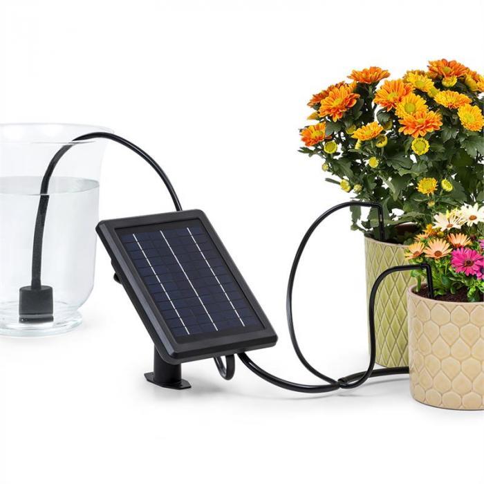 Greenkeeper Solar Sistema de riego Panel solar 1.500 mAh 40 plantas