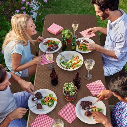 Blumfeldt Burgos, kerti bútor készlet, háromrészes, asztal+
